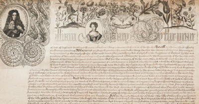 Second Royal Charter granted by King William and Queen Mary
