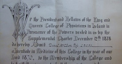 The order of Membership of the College